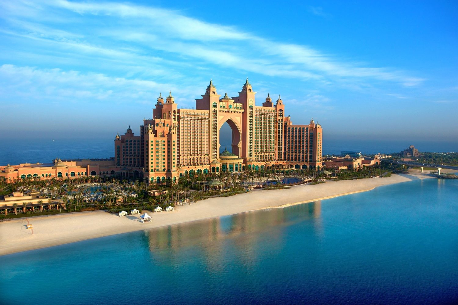 Atlantis Hotel Dubai Palma Beautiful Atlantis Hotel HDR Wallpaper